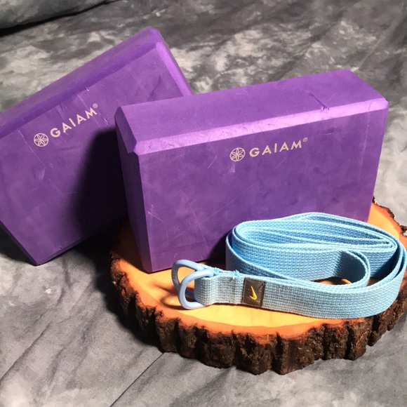 Nike Accessories 2 Gaiam Yoga Blocks Yoga Strap Poshmark